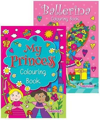 £3.95 • Buy Squiggle Girls My Princess & Ballerina A4 Colouring Books - Great Gift Set Of 2