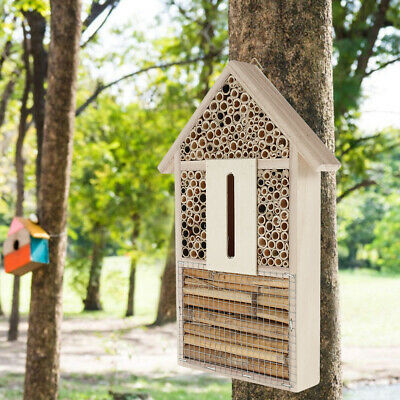 £10.99 • Buy Butterfly House Insect Hotel Wooden Bee Natural Shelter Garden Bug Nest Hang Box