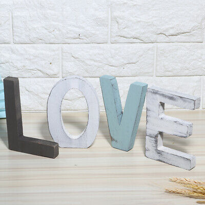 £10.47 • Buy Rustic Style Wooden Letters Decorative Wooden Block Word Signs For Home Decorati