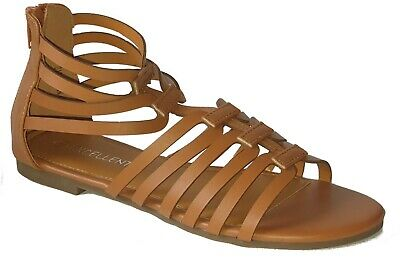 £7.99 • Buy Women's Ladies Flat Zipped Casual Summer Holiday Evening Sandals - Sizes 3-6