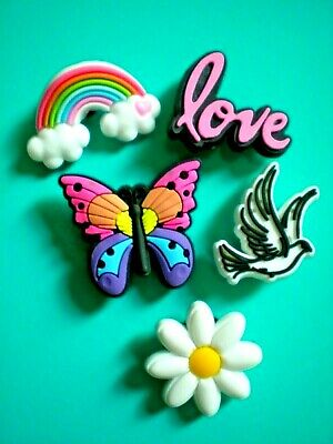 £7.78 • Buy Shoe Charm Pin Button Plug Compatible W/Crocs Shoes Dove Butterfly Wristband