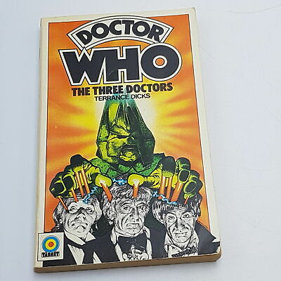 Doctor Who: The Three Doctors (1975) 1st Edition Target Paperback [G+] • 12.99£