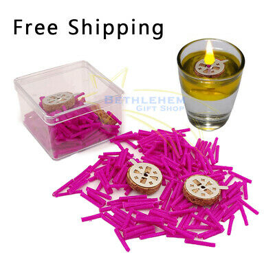 £10.45 • Buy 350pcs Floating Candle Paraffin Wax Wicks Prayer Orthodox Church Holy Land Oil