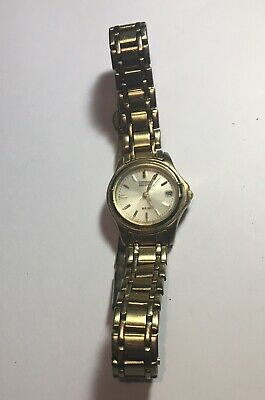 £18 • Buy Ladies Citizen Eco Drive WR50 Gold Plated Watch Working Vgc