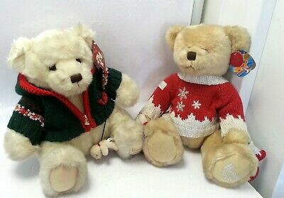 Set Of 2 Harrods Annual Christmas Plush Collectable Bears 2008 & 2006 #875 • 9.99£