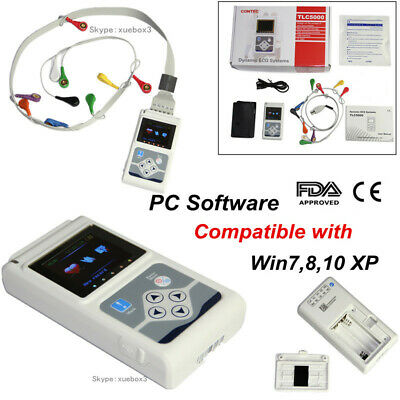 £362.99 • Buy CONTEC TLC5000 12-Lead Holter ECG 24hour Monitor Sync PC Software Analysis, FDA