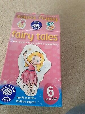 Orchard Toys Fairy Tales 6 In A Box 2 And 3 Piece Jigsaw Puzzles Age 18 Months • 2.50£