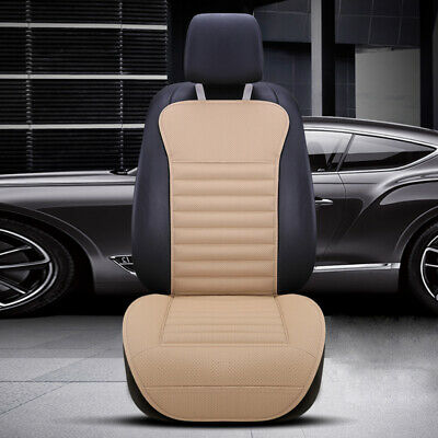 $ CDN40.19 • Buy Beige Non-slip Breathable PU Leather Front Car Seat Cover Protection Cushion Mat