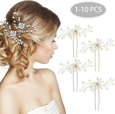£2.49 • Buy Bridal Accessories Pearls Wedding Flowers Hair Pins Clips Jewelry Comb Headpiece