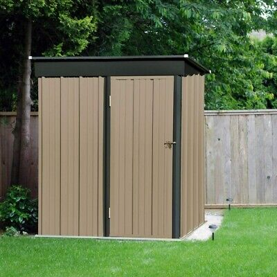 Metal Garden Shed Outdoor Storage House Pent Roof 5 X 3ft With Lock Lockable • 186.99£