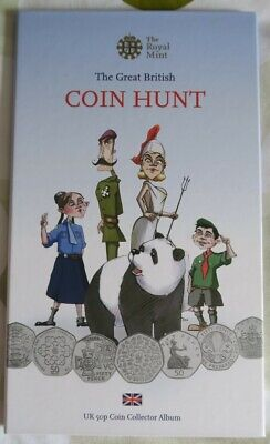 Royal Mint The Great British Coin Hunt Album And 50pence Coins In Good Condition • 35£
