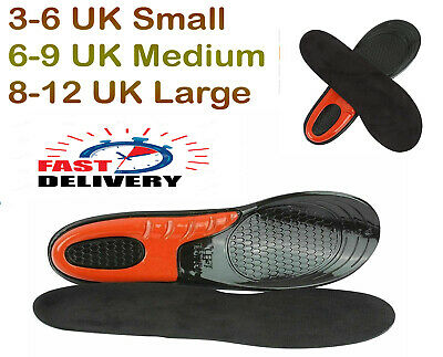 £5.35 • Buy Work Boot Insoles Hiking Trainer Inner Soles Foot Inserts Silicone Gel Size 3-12