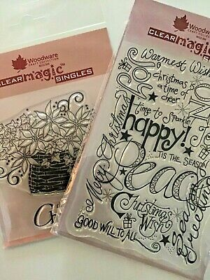 £3.99 • Buy Woodware Craft Collection Clear Magic Singles. Christmas. Clear Stamps. New