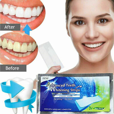 AU17.97 • Buy 28 Advanced Teeth Whitening Strips (14 Pouches) Home Teeth Bleaching 24 Hour Spe