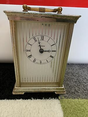 £10 • Buy Vintage Metamec Carriage Clock Gold Made In England Roman Numerals Working
