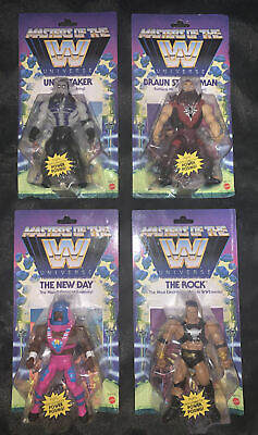 $230 • Buy Mattel WWE Masters Of The Universe Wave 3 Complete (Lot Of 4) Undertaker Rock