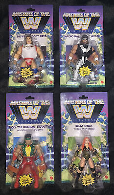 $99 • Buy Mattel WWE Masters Of The Universe Wave 5 Complete (Lot Of 4) Piper Macho Ricky