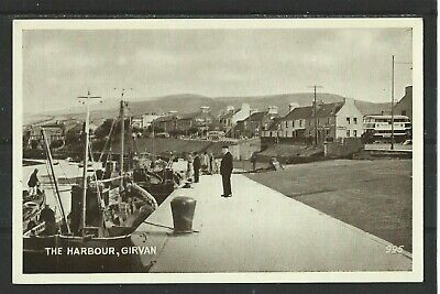 AU5.35 • Buy Postcard : Girvan Ayrshire, Admiring Fishing Boats In The Harbour,  Reproduction