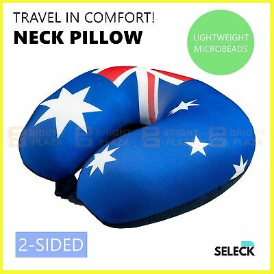 AU14.95 • Buy Microbead Travel Neck Pillow Solid Colours U Shaped Head Rest Cushion Portable