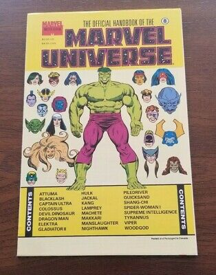$1.69 • Buy The Official Handbook Of The Marvel Universe - Master Edition Vol 3 #8 - 1991