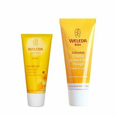 £16.99 • Buy 1 Set 2 PCS Weleda Calendula Skincare Face Cream Moisturizers+Body Cream#b334