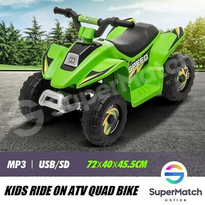 AU79.59 • Buy New Kids Ride-On ATV Quad Bike Toys Ride On Cars 6V Rechargeable Battery Green