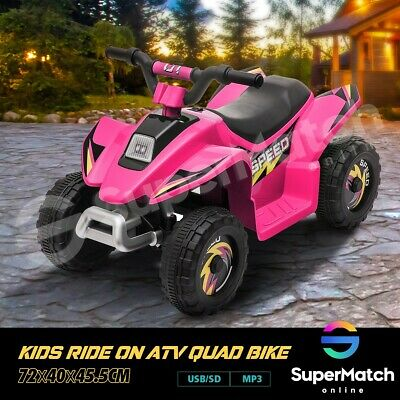 AU79.59 • Buy New Kids Ride-On ATV Quad Bike Toys Ride On Cars 6V Rechargeable Battery Pink