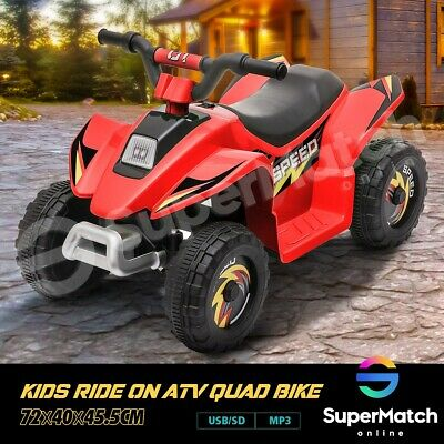 AU79.59 • Buy New Kids Ride-On ATV Quad Bike Toys Ride On Cars 6V Rechargeable Battery Red
