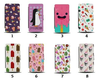 $16.55 • Buy Ice Cream Flip Wallet Case Retro Vintage Candy Sweets 60s 50s Lolly 8212d