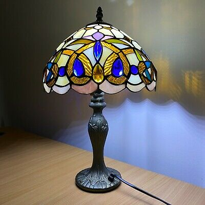 £65.49 • Buy  Handmade Stained Tiffany Glass Colorful 10  Table Bedside Home Decor Lamp Light