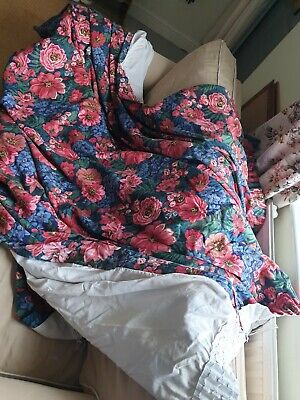 £25 • Buy Vintage Style Blue Rose Curtains