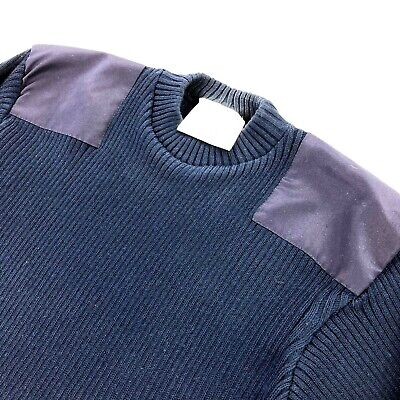 $37.46 • Buy Commando US Military Men's Ribbed Sweater Navy Blue Elbow/Shoulder Patches •XL