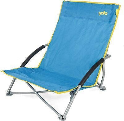 £24.95 • Buy Folding Low Blue Beach Chair, Beach Picnic Camping Fishing With Carry Bag