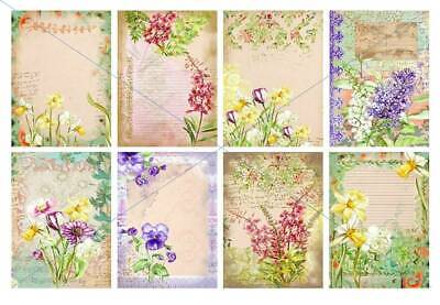 £2.99 • Buy Craft Card Toppers Scrap-Booking Tags Decoupage Pretty Floral Spring Flowers