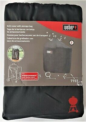 $ CDN33.25 • Buy WEBER 7151 Grill Cover With Storage Bag, Fits Performers With Folding Table