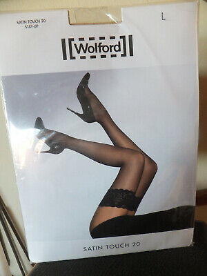 Wolford Satin Touch Stay Ups, Cosmetic=shiny Skintone, 20, Large, BNIP • 9.99£