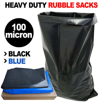 £11.99 • Buy Extra Heavy Duty Strong Rubble Sacks Builders Large Black / Blue Rubbish Bags