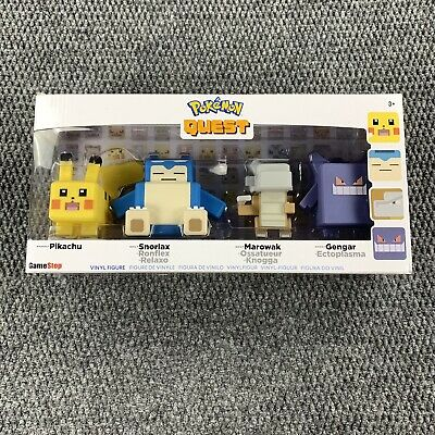 $28.71 • Buy Pokemon Quest Vinyl Figure Set 4-Pack Wicked Cool Toys Game Stop Exclusive New