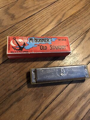 $9.99 • Buy M Hohner's Harmonica Old Standby In Original Box Germany Key Of C NO 34 B