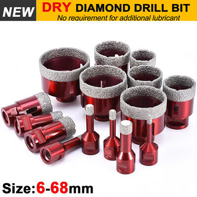 £9.35 • Buy M14 6-68mm Dry Diamond Drill Bit Hole Saw Cutter For Porcelain Tile Glass Marble