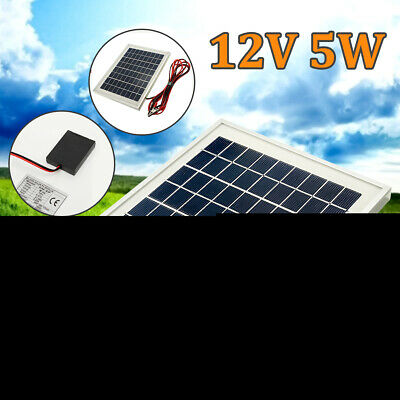 AU26.39 • Buy 5W 12V Mono Solar Panel Battery Charger W/4m Cable Clamps For Car Boat  ! # ^