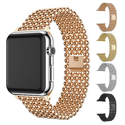 $ CDN3.54 • Buy Stainless Steel Wrist Band For Apple Watch Series 5 4 3 2 1 IWatch Strap 40/44mm