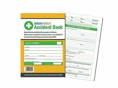 £3.19 • Buy Accident Report Book HSE GDPR Data Protection RIDDOR Compliant 50 Page A4