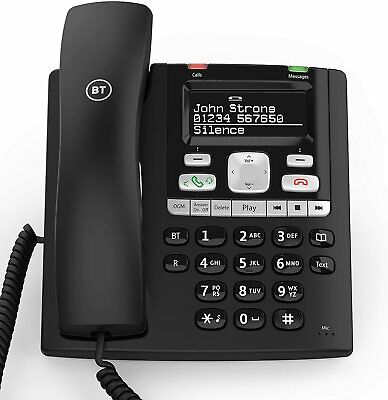 £42.99 • Buy BT Paragon 650 Corded Phone With Answering Machine, Black