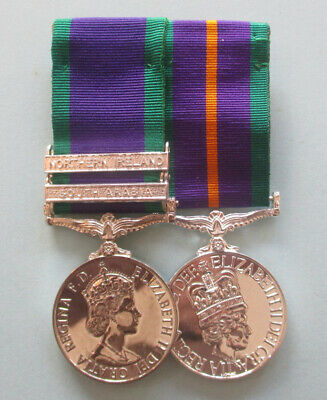 £65 • Buy Mounted Copy Medals General Service Medal 2 Clasps, Accumulated Campaign Service