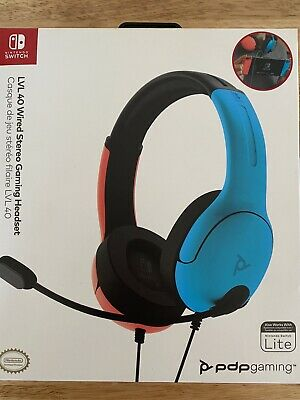 £23.99 • Buy Nintendo Switch Headset /PDP Officially  LVL40 / Wired Stereo Gaming BRAND NEW