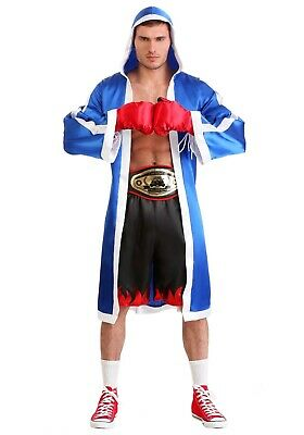 £19.11 • Buy Adult Boxing Champ Boxer Robe Costume SIZE L (Used)