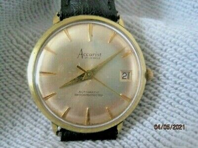 $ CDN68.39 • Buy Vintage 60's Accurist Swiss Made Gold Plated Gents Automatic Watch.