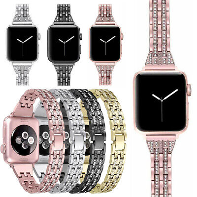 $ CDN5.49 • Buy For Apple Watch Series 6 SE 5 4 3 2 IWatch 38 40 44mm Stainless Steel Strap Band