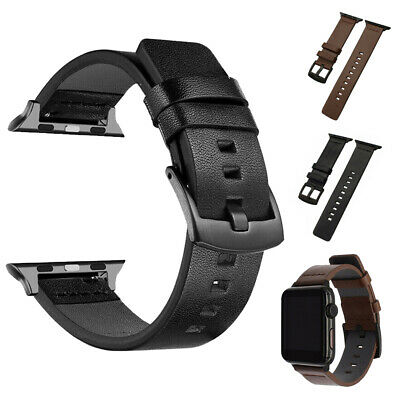 $ CDN9.08 • Buy For Apple Watch Series 5 4 3 2 1 Genuine Leather Band IWatch 38/42/40/44mm Strap